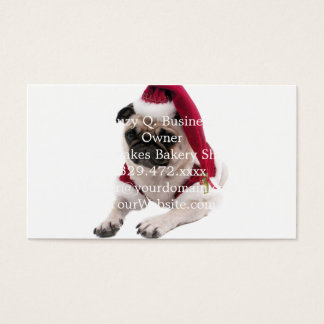 Christmas pug - santa claus dog - dog claus business card