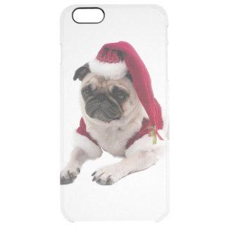 Christmas pug - santa claus dog - dog claus clear iPhone 6 plus case