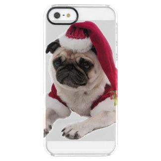 Christmas pug - santa claus dog - dog claus clear iPhone SE/5/5s case