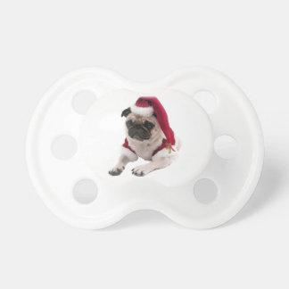 Christmas pug - santa claus dog - dog claus dummy
