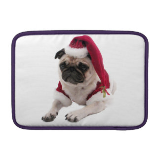 Christmas pug - santa claus dog - dog claus MacBook sleeve
