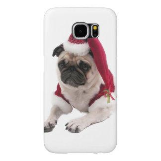 Christmas pug - santa claus dog - dog claus samsung galaxy s6 cases
