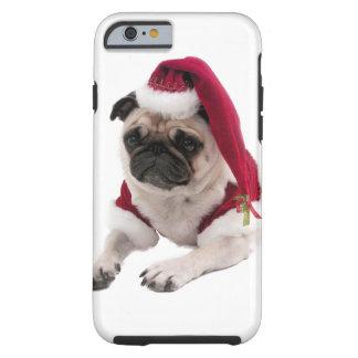 Christmas pug - santa claus dog - dog claus tough iPhone 6 case