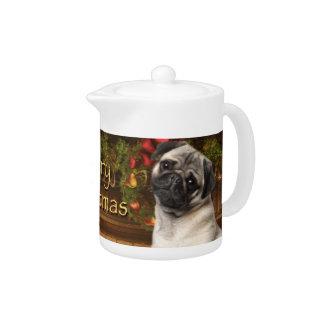 Christmas Pug Teapot