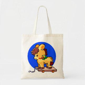 Christmas Pull Horsey Tote Bag