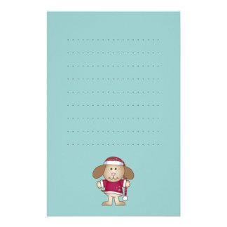 Christmas Puppy Elf Stationery
