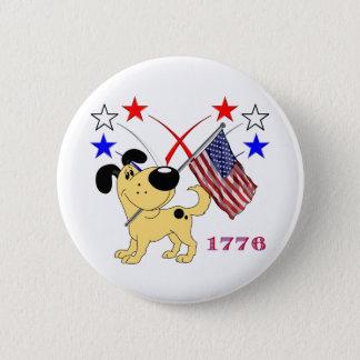 Christmas Pups 6 Cm Round Badge