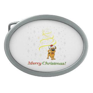 Christmas Pups Belt Buckles