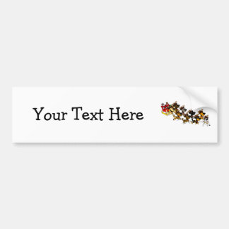 Christmas Pups Bumper Sticker