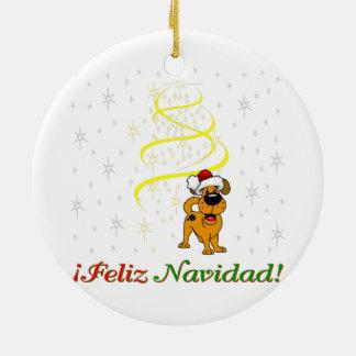 Christmas Pups Ceramic Ornament