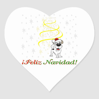 Christmas Pups Heart Sticker