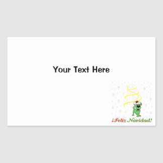 Christmas Pups Rectangular Sticker