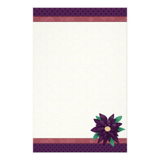 Christmas Purple stationary Stationery Design