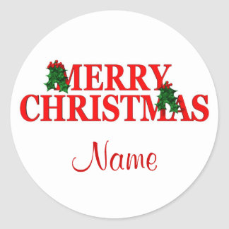 Christmas,put in your name Sticker