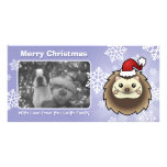 Christmas Pygmy Hedgehog Customised Photo Card