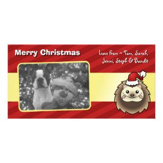 Christmas Pygmy Hedgehog Photo Card Template
