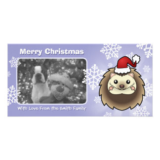 Christmas Pygmy Hedgehog Picture Card