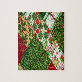 Christmas Quilt Background Puzzle
