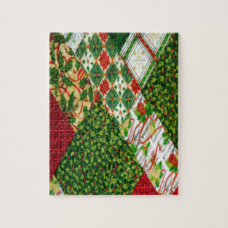 Christmas Quilt Background Puzzles