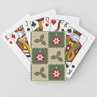 Christmas Quilt Classic Playing Cards