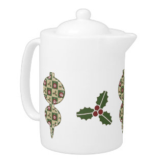 Christmas Quilt Teapot