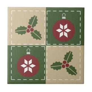 Christmas Quilt Tile