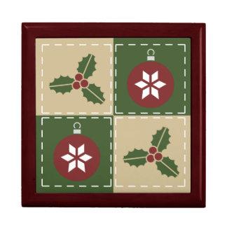 Christmas Quilt Tile Box
