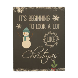 Christmas Quote Typography Wood Print