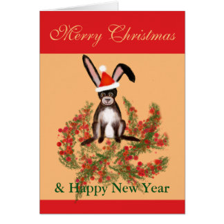 Christmas Rabbit Card