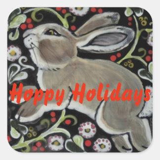 Christmas Rabbit Hoppy Holidays Sticker Customise