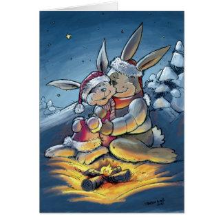 Christmas Rabbits Card