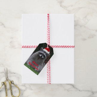 Christmas Raccoon Holiday Gift Tags