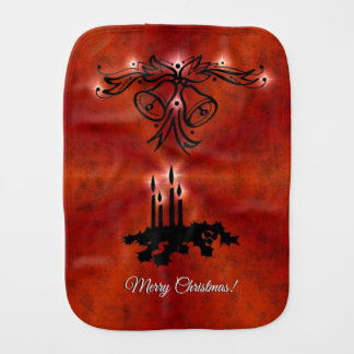 Christmas Rainbow in Elephantenskin leatheroptik Burp Cloth