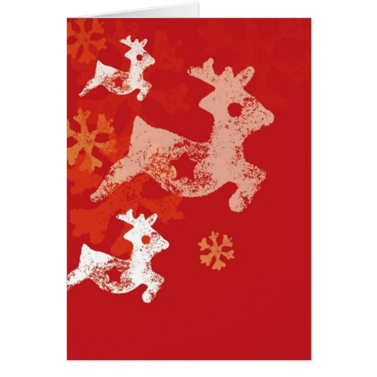 Christmas Raindeer Card