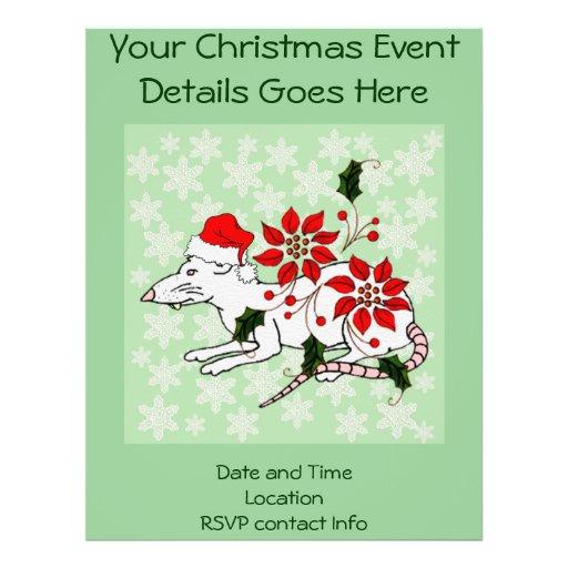 Christmas Rat Flyer