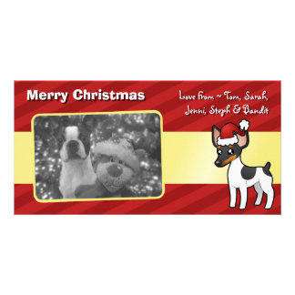 Christmas Rat Terrier / Toy Fox Terrier Personalised Photo Card