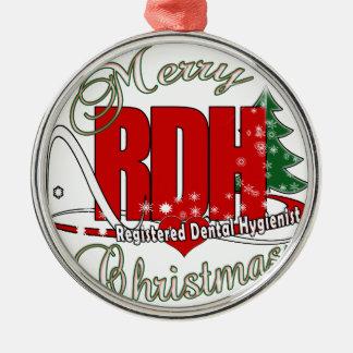CHRISTMAS RDH Registered Dental Hygienist Metal Ornament