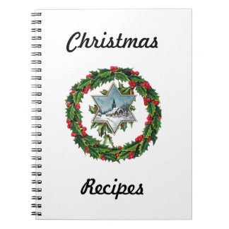 Christmas Recipe Book Notebook