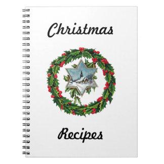 Christmas Recipe Book Notebook