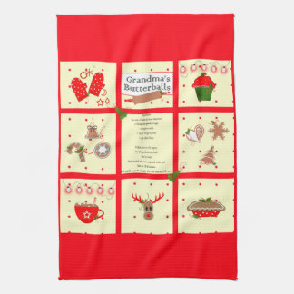 Christmas Recipe Kitchen Towel