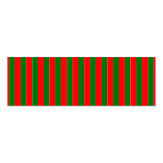 Christmas Red and Green Candy Cane Stripes Business Card Template
