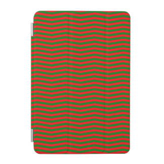 Christmas Red and Green Chevron Zig Zag Stripes iPad Mini Cover