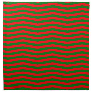 Christmas Red and Green Chevron Zig Zag Stripes Napkin