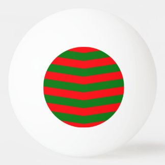 Christmas Red and Green Chevron Zig Zag Stripes Ping Pong Ball
