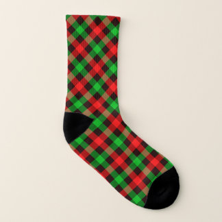 Christmas red and green gingham pattern 1