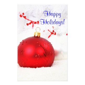 Christmas Red And White Happy Holidays VI 14 Cm X 21.5 Cm Flyer