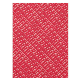Christmas red and white music notes custom tablecloth