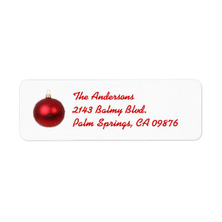 Christmas Red Ball Address Label