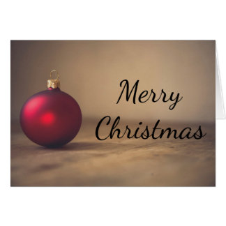 Christmas red baubel decoration Greeting card