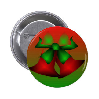 Christmas Red Bells Pinback Button